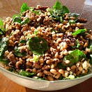 Black eyed bean and spinach salad