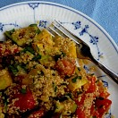 Charred vegetable and couscous salad