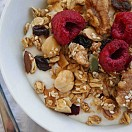 Home made breakfast granola