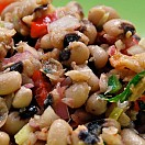 Black-Eyed Bean Salad with Basil Dressing