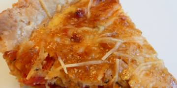 Oat Crusted Sundried Tomato and Onion Tart