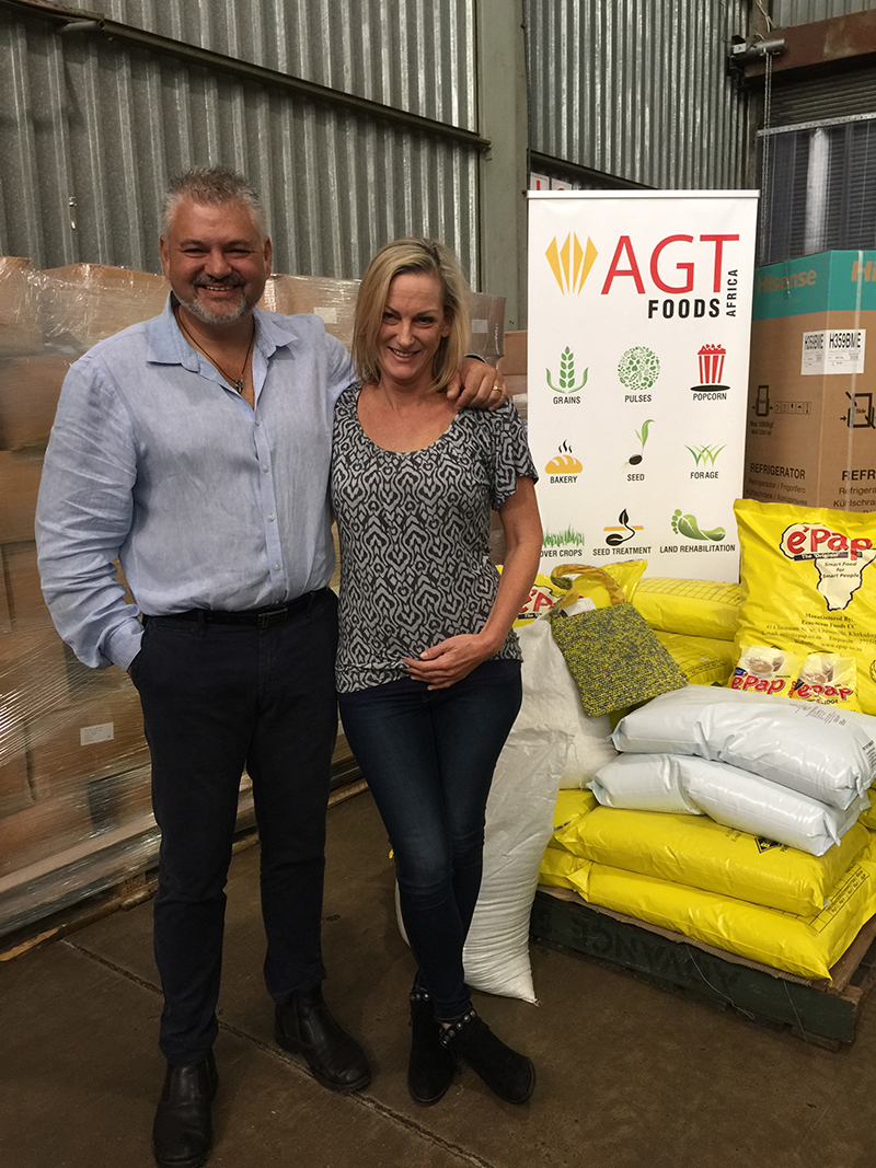 George Tomazos, AGT Foods (left) and Kate Buchanan, RADA (right)